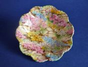 Vintage Shelley Fine Bone China 'Rock Garden' Dish c1940